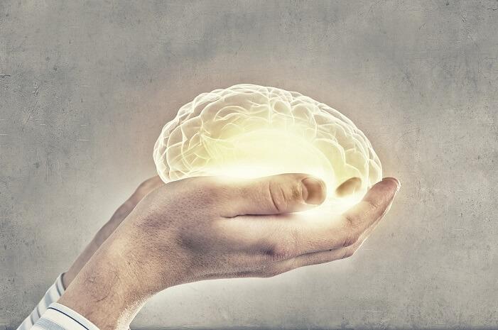 光る脳を持つ手