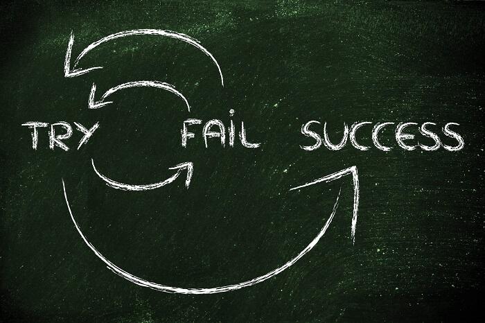 挑戦、失敗から成功へ