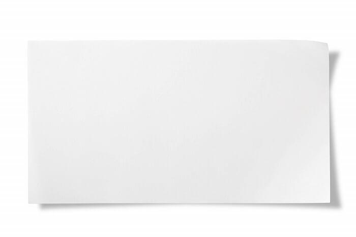 真っ白な紙