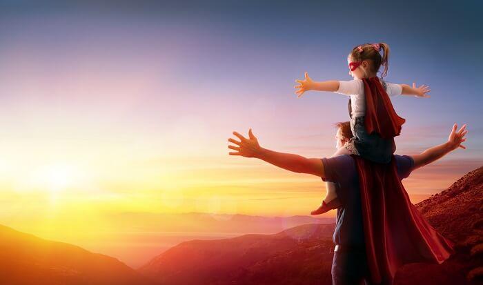 スーパーマンの親子